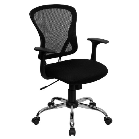 Mid Back Mesh Swivel Chair with Chrome Base - Flash Furniture  - image 1 of 4