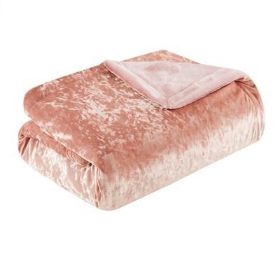Blush Crushed Velvet Plush Throw Pillow (50'x60 )