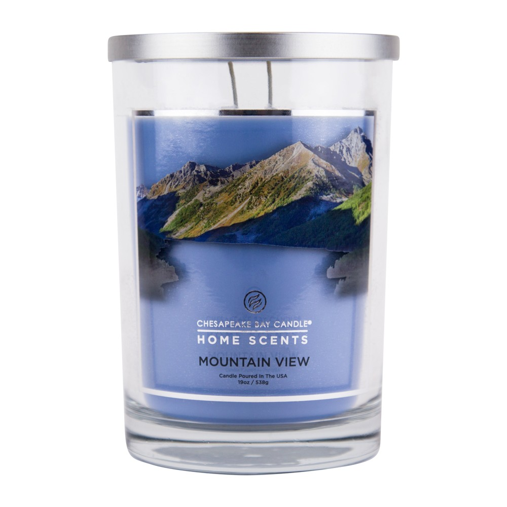 Image of 19oz Glass Jar Candle Mountain View - Home Scents by Chesapeake Bay Candle, Size: 19 oz, Beige