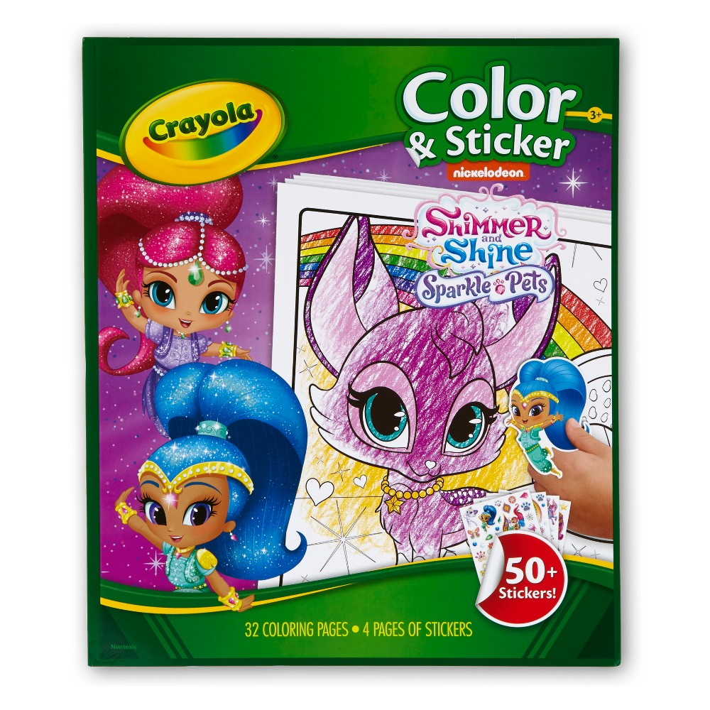 Crayola Shimmer and Shine Color & Sticker, White