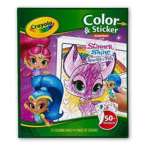 crayola shimmer and shine color sticker target