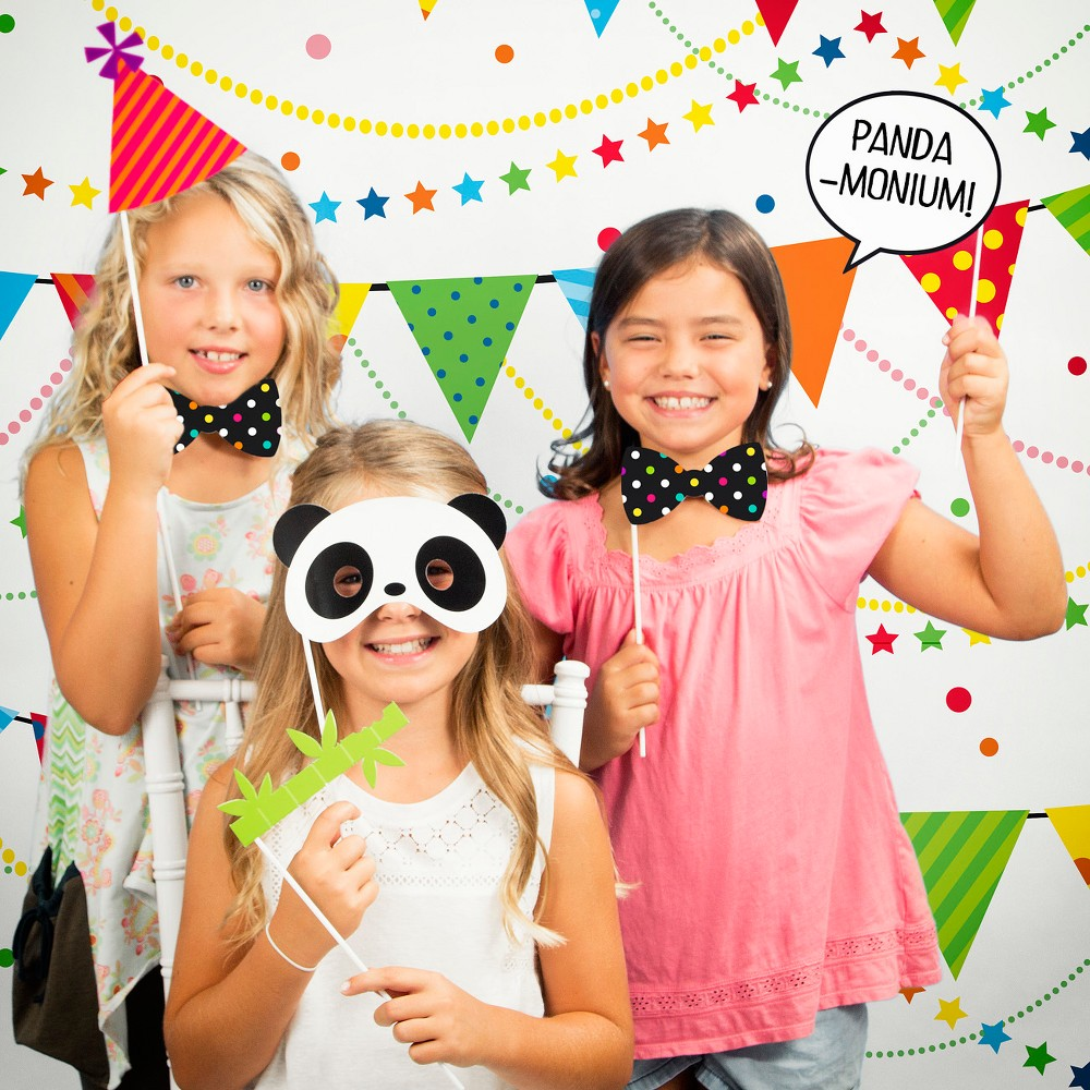 Panda Party Photo Booth Kit, Multi-Colored