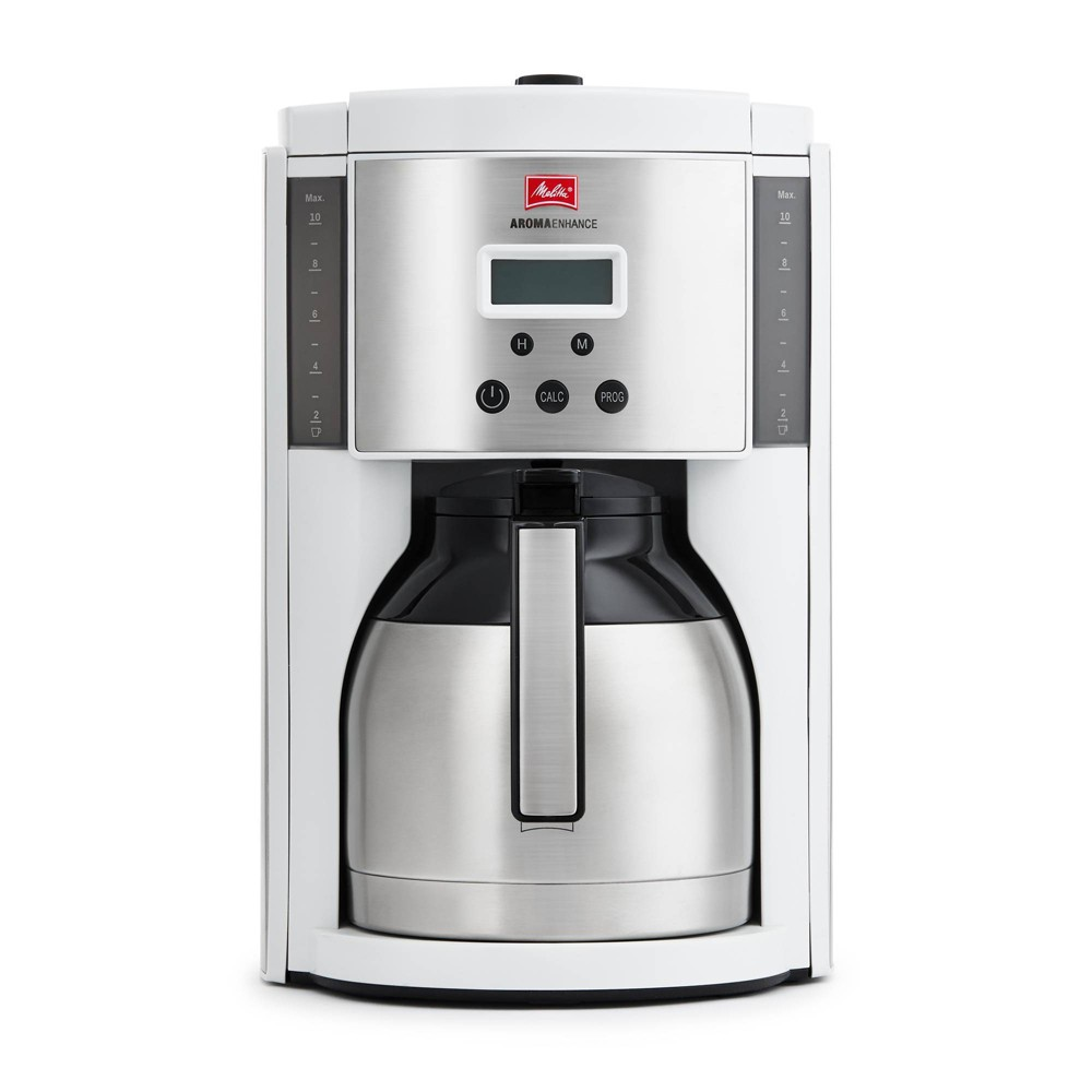 Image of Melitta Aroma Enhance Coffee Maker Thermal Carafe 10-cup, White