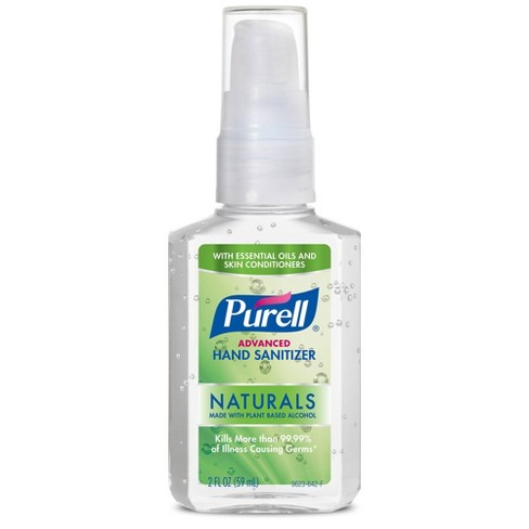 PURELL Advanced Hand Sanitizer Naturals with Plant Based Alcohol Pump Bottle - 2 fl oz - image 1 of 2