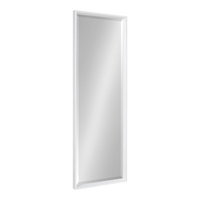 """17.5"""" x 49.5"""" Calter Full Length Wall Mirror White - Kate and Laurel"""