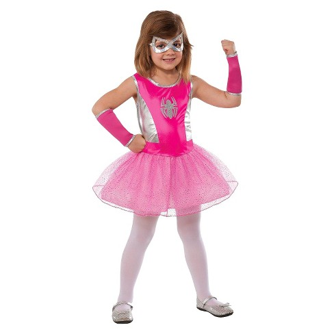 Kids' Marvel Spider-Girl Halloween Costume Pink - image 1 of 1