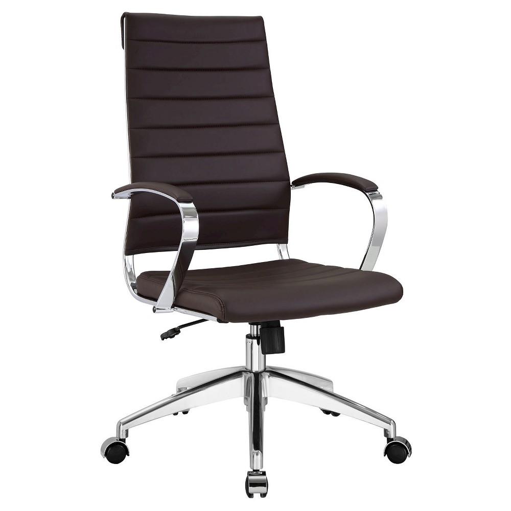 Office Chair Modway Dark Brown