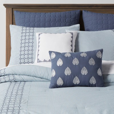 King 8pc MontClair Hotel Comforter Set Blue - Threshold™
