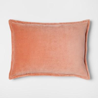 Peach Velvet Lumbar Throw Pillow - Threshold™