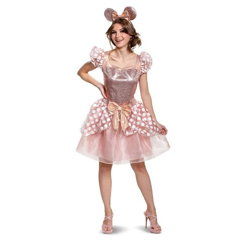 Women's Minnie Mouse Rose Gold Minnie Deluxe Halloween Costume S - image 1 of 1