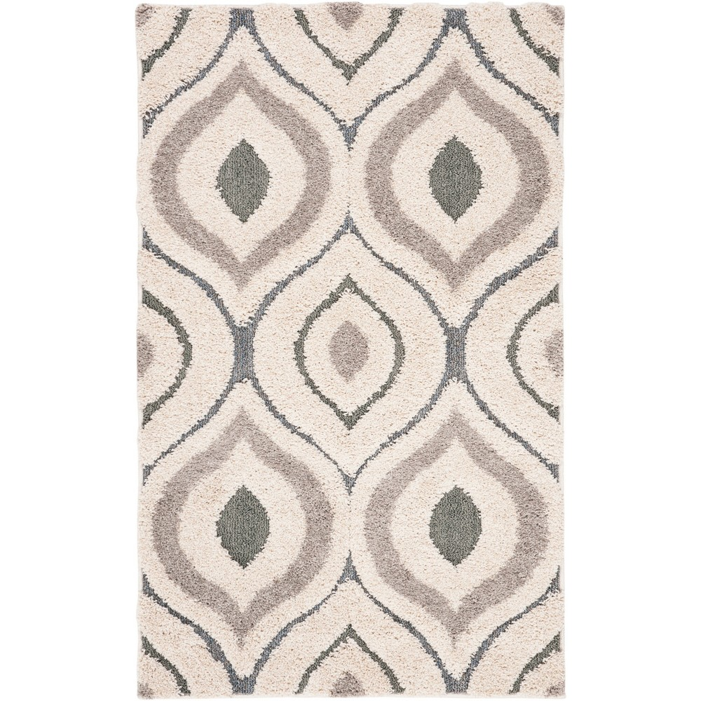 33X53 Shapes Loomed Accent Rug Cream/Light Blue - Safavieh Compare