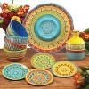 Certified International Valencia Glazed Ceramic Ice Cream Bowls (22oz) - Set of 4 - image 2 of 2