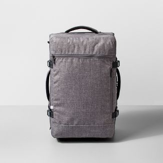 """Rolling 22"""" Carry On Suitcase Heather Gray - Made By Design™"""