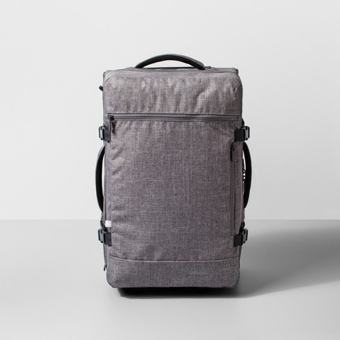 """Rolling 22"""" Carry On Suitcase Heather Gray - Made By Design™ - image 1 of 3"""
