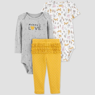 Baby Girls' Mommy's Love Top & Bottom Set - Just One You® made by carter's Gold Newborn