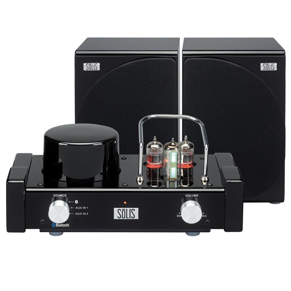 Solis Bluetooth Stereo Vacuum Tube Audio System - Black (SO-8000)