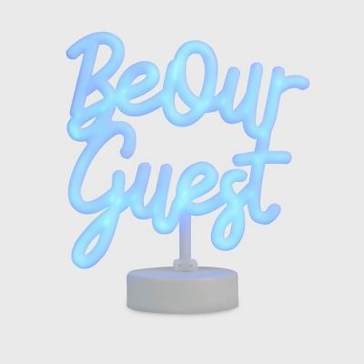 Disney Princess X POPSUGAR Belle Be Our Guest Neon Desktop Lamp (Includes LED Light Bulb)