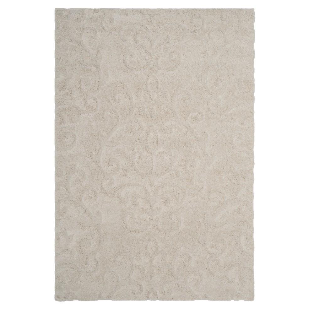 Cream (Ivory) Swirl Loomed Area Rug 6'X9' - Safavieh