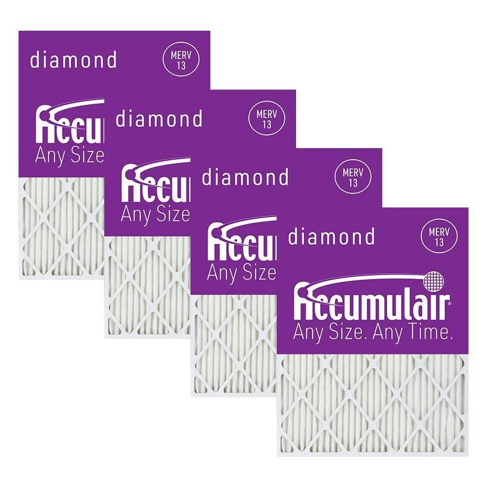 Accumulair 4pk 14x22x1 Merv 13 Diamond Filters