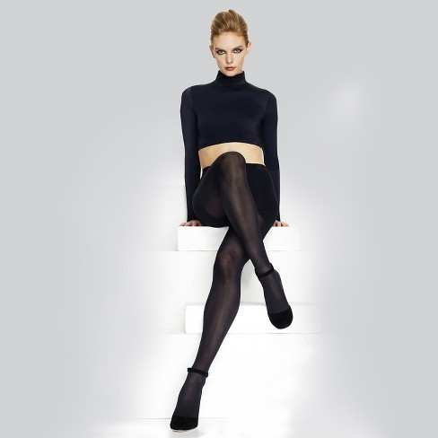 db1e5983534 Hanes Premium Women s Perfect Opaque Tights Black - Q01757   Target