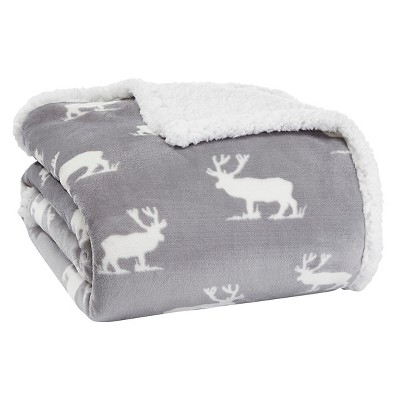 Chrome Elk Stance Sherpa Throw Chrome (50 X60 )- Eddie Bauer®