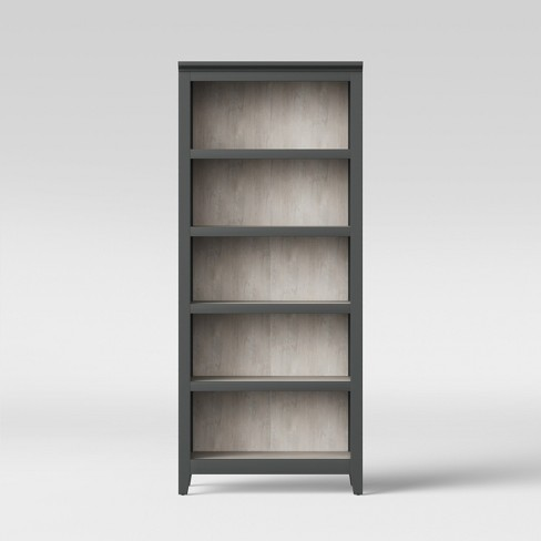 72 Carson 5 Shelf Bookcase Gray Threshold