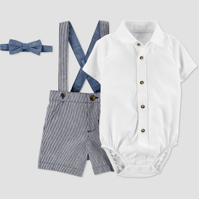 Baby Boys' Easter Dressy Striped Top & Shorts Set - Just One You® made by carter's Blue Newborn
