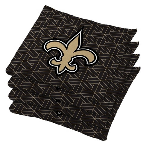 New Orleans Saints 4pk Bean Bag Set - Black - image 1 of 1
