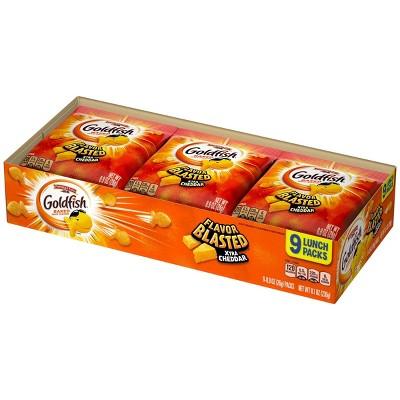 Goldfish Flavor Blasted Xtra Cheddar Crackers Multipack Tray - 8.1oz - Pepperidge Farm