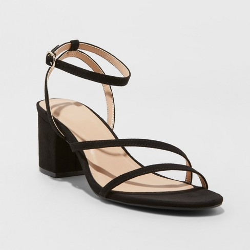 Women's Selena Naked Block Heeled Pumps - A New Day™ - image 1 of 3