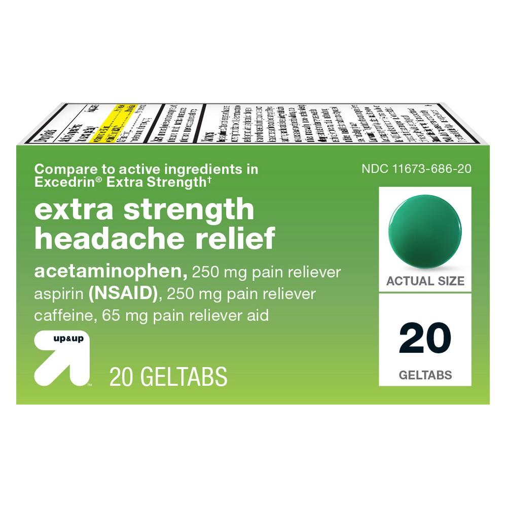 Acetaminophen/Aspirin (Nsaid) Extra Strength Headache Relief Geltabs - 20ct - Up&Up