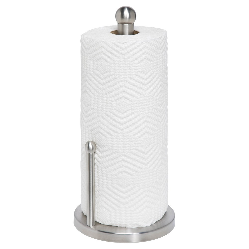 Honey Can Do Stainless Steel Paper Towel Holder, Grey