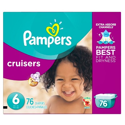 Pampers Cruisers Diapers, Giant Pack - Size 6 (76 ct)