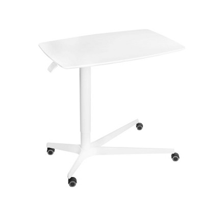 Airlift Overbed Medical Pneumatic Height Adjustable Table White - Seville Classics