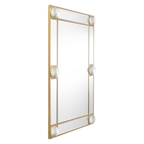 "ZM Home 47.2"" x 31.5"" Modern Rectangle Lucite Mirror Gold - image 1 of 5"