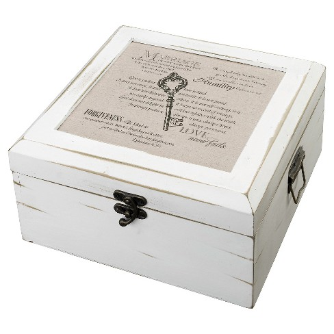 Antique White Christian Card Box - image 1 of 1