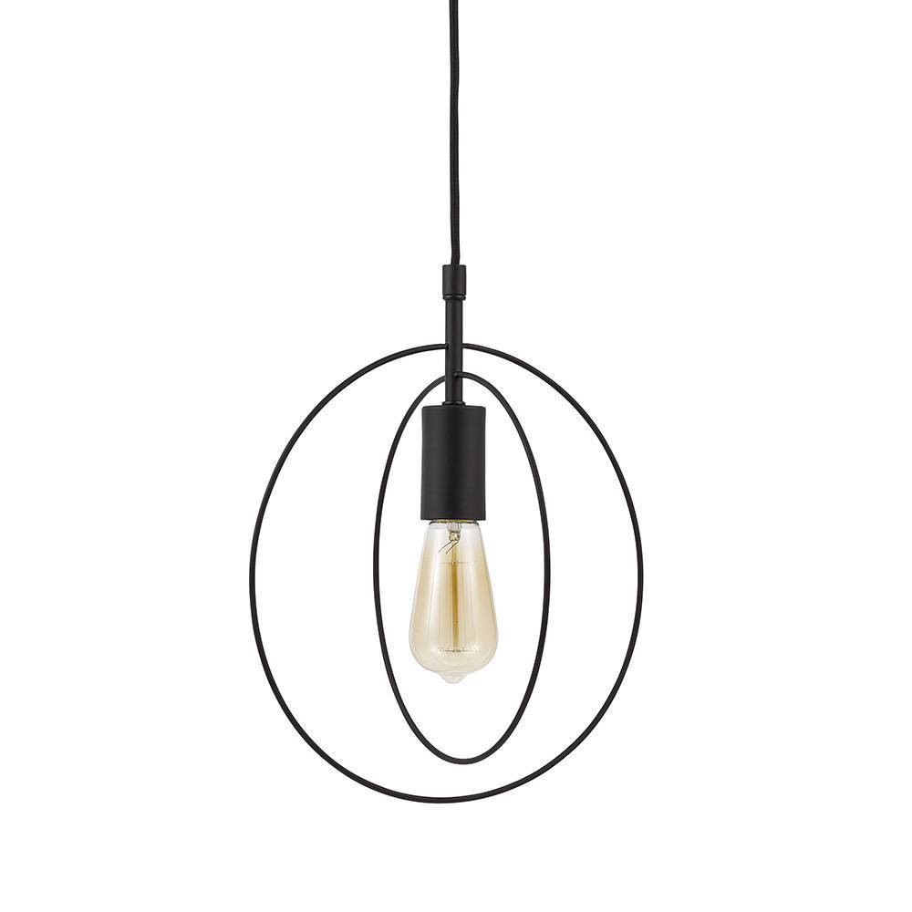 Image of One Light Swag Pendant Bronze - Cresswell Lighting, Brown