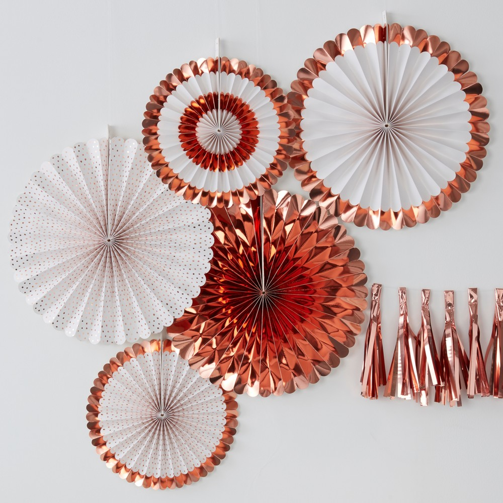 Image of 5ct Fan Decorations Rose Gold