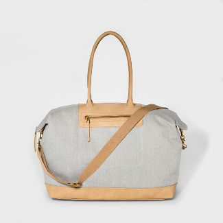 Large Canvas Weekender Bag - Universal Thread™ Gray