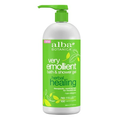 Alba Botanica Very Emollient Herbal Healing Bath & Shower Gel - 32 fl oz
