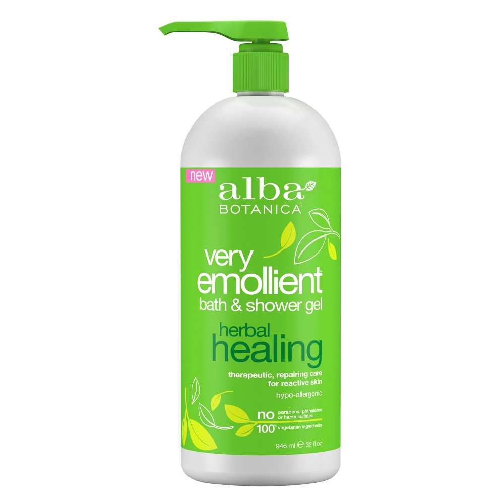 Image of Alba Botanica Very Emollient Herbal Healing Bath & Shower Gel - 32 fl oz