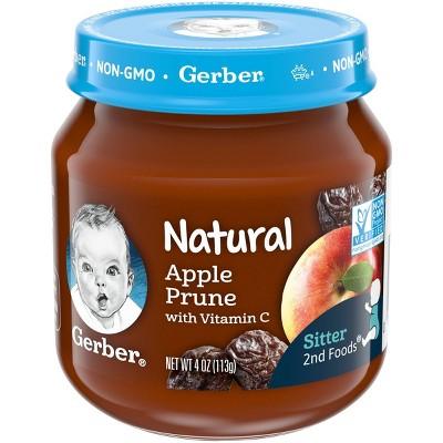 Gerber 2nd Food Natural Apple Prune Baby Meals - 4oz