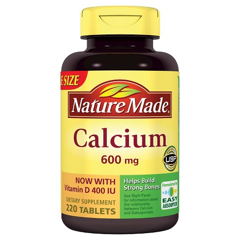Nature Made Calcium Dietary Supplement Tablets - 220ct - image 1 of 1
