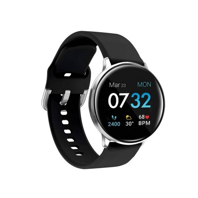 iTouch Sport Fitness Smartwatch - Silver Case with Black Strap