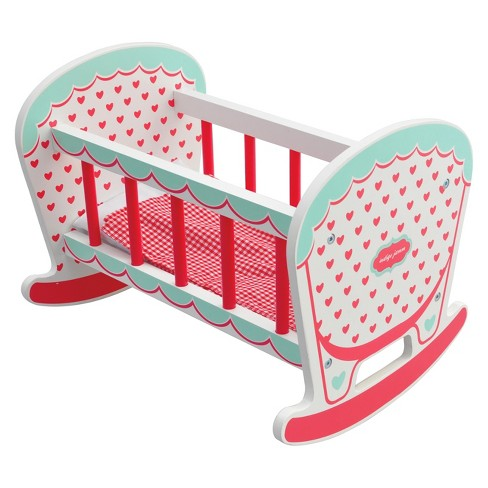 Indigo Jamm Hearts Wood Doll Cot-Cradle - image 1 of 4