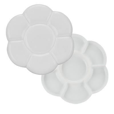 Creative Mark Double Flower Palette - Portable Watercolor Palette, White