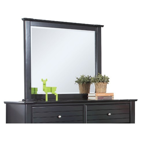 Mallowsea Kids Dresser Mirror Black