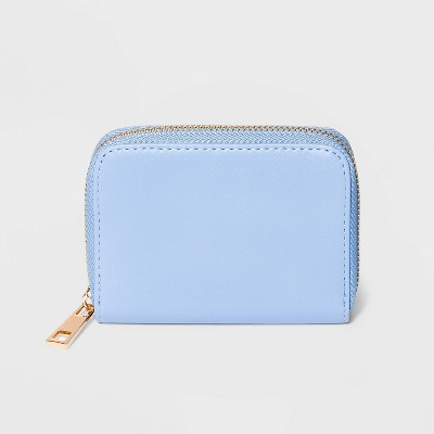 Women's Zip Closure Small Wallet - A New Day™ Blue