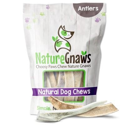"Nature Gnaws Deer Antlers 4-7"" Dog Treats - 3ct"