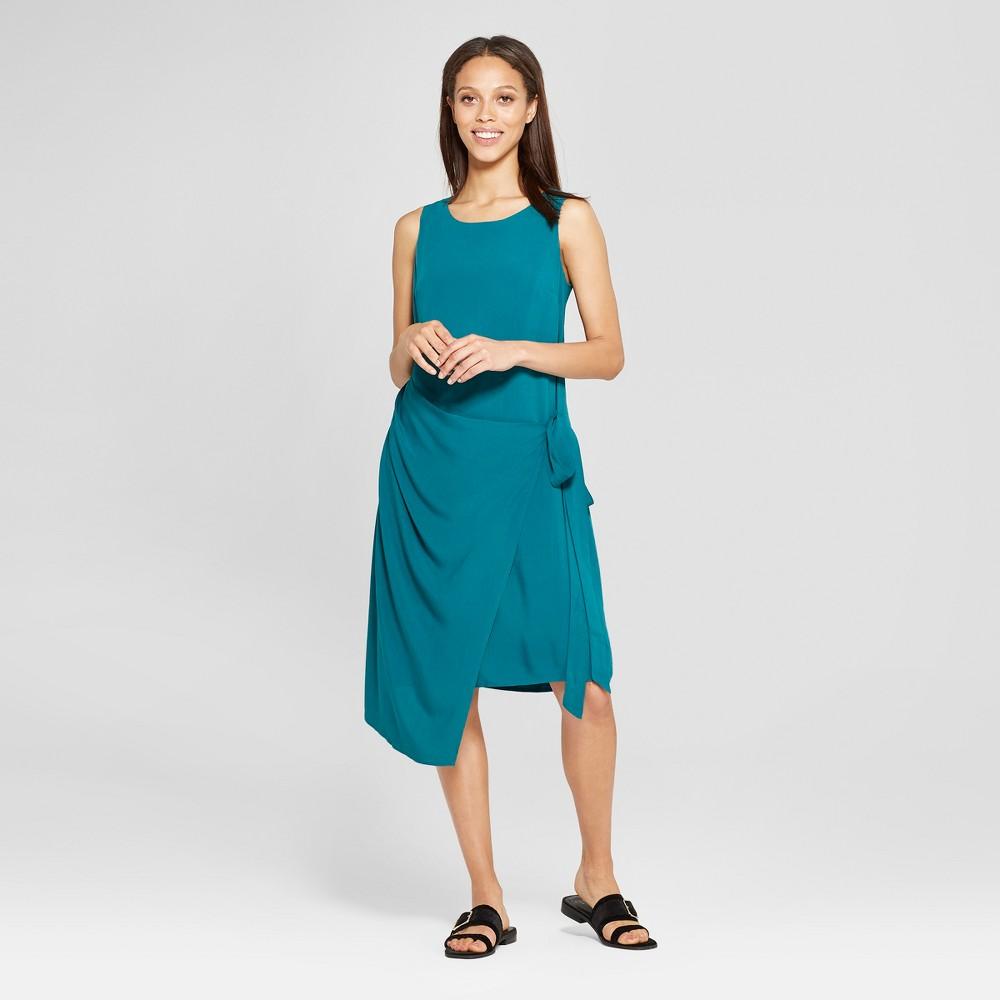 1920s Day Dresses, Tea Dresses, Mature Dresses with Sleeves Womens Asymmetric Shift Dress - Mossimo Blue M $15.38 AT vintagedancer.com